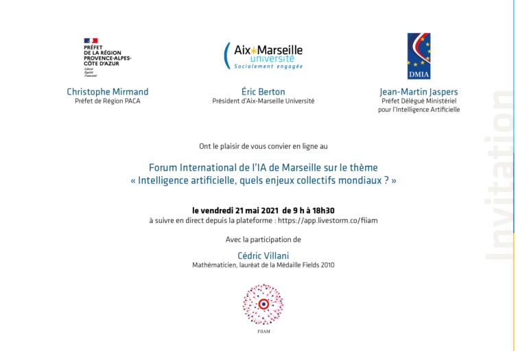 ‼️SAVE THE DATE‼️ : Forum International de l'Intelligence Artificielle à Marseille